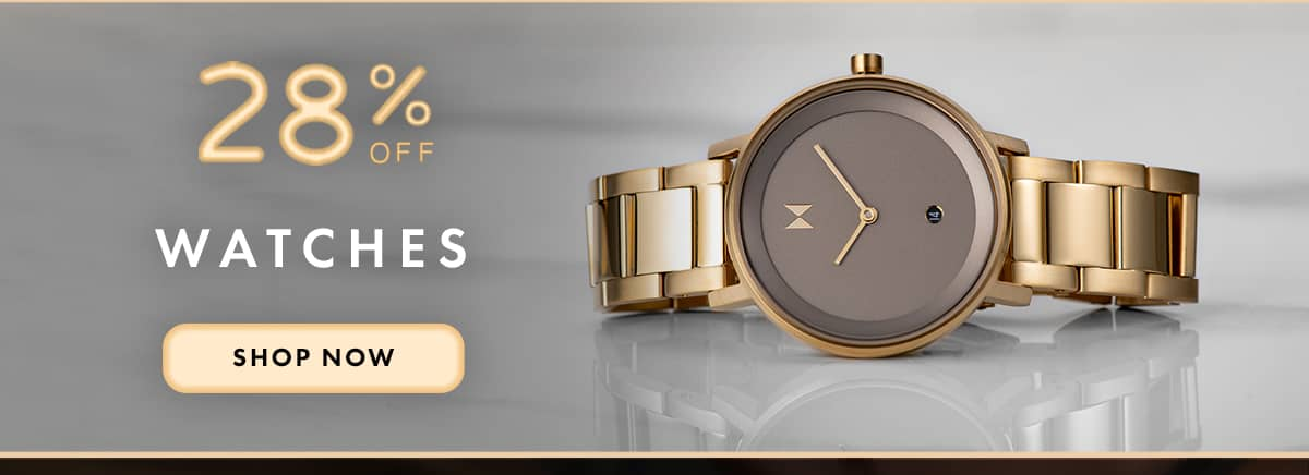 28% off Watches