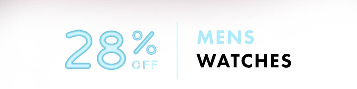 28% off Mens Watches